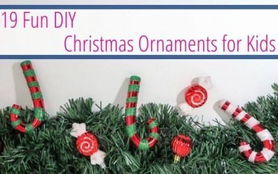 19 Fun DIY Christmas Ornaments for Kids