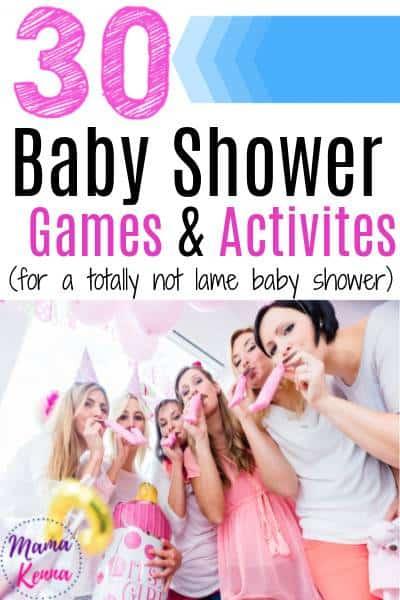 unique baby shower games that aren't lame
