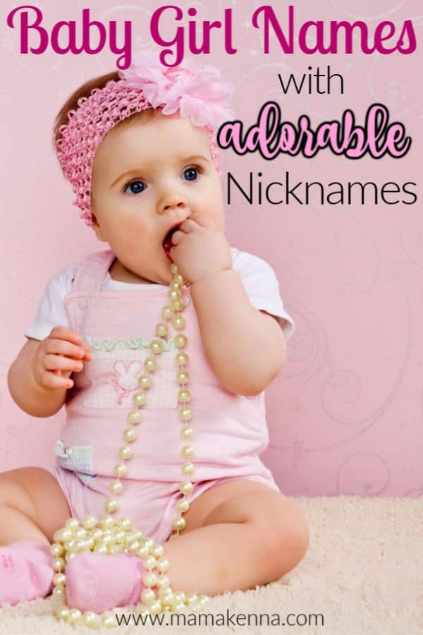 Looking for some baby names?  Here you'll find a list of girl names with nicknames!  As well as some cute nicknames for girls.