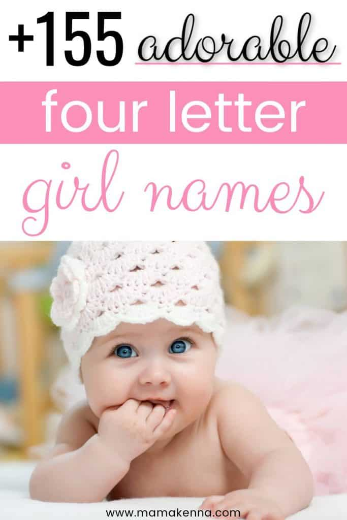 Here's a list of adorable four letter girl names that you'll love