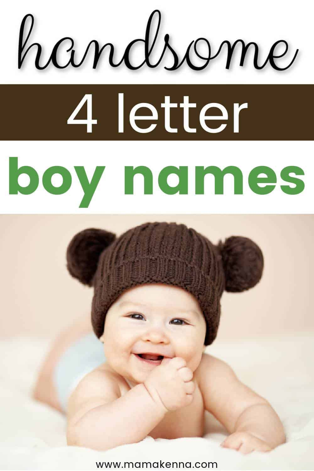 Come check out these super cute four letter boy names
