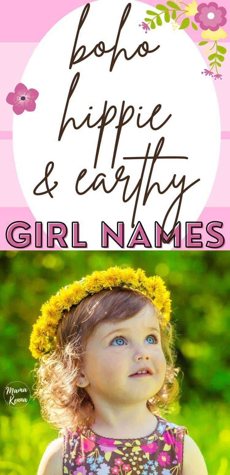 Find earthy hippie name here!  Find names associated with flowers, nature, and more.