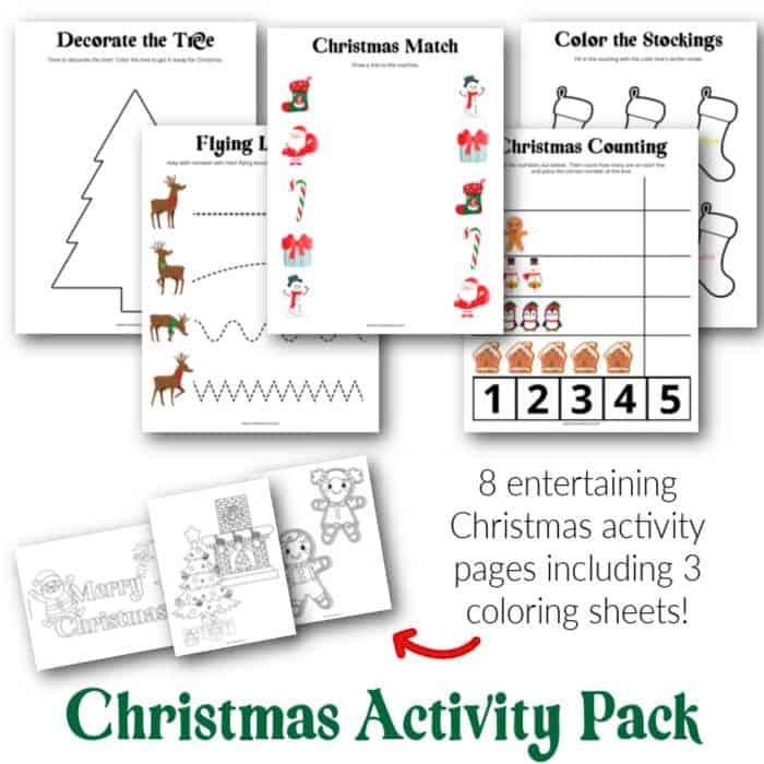 mini printable christmas pack