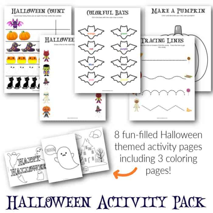 free printable mini halloween activity book for toddlers
