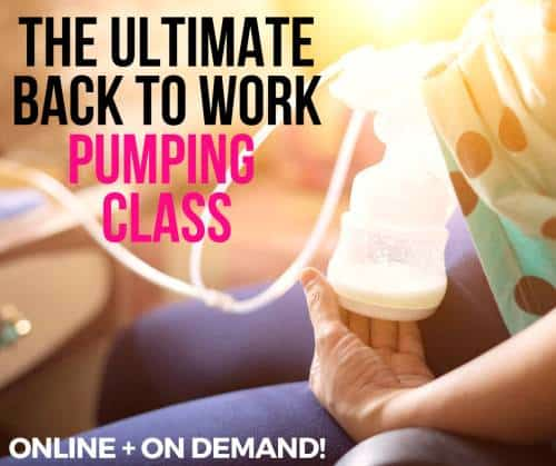 breastfeeding class curriculum for going back to work